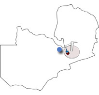 Map of Project - Four Water Wells (Zambia)